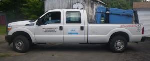 Camion utilisé pour le transport des saumons
