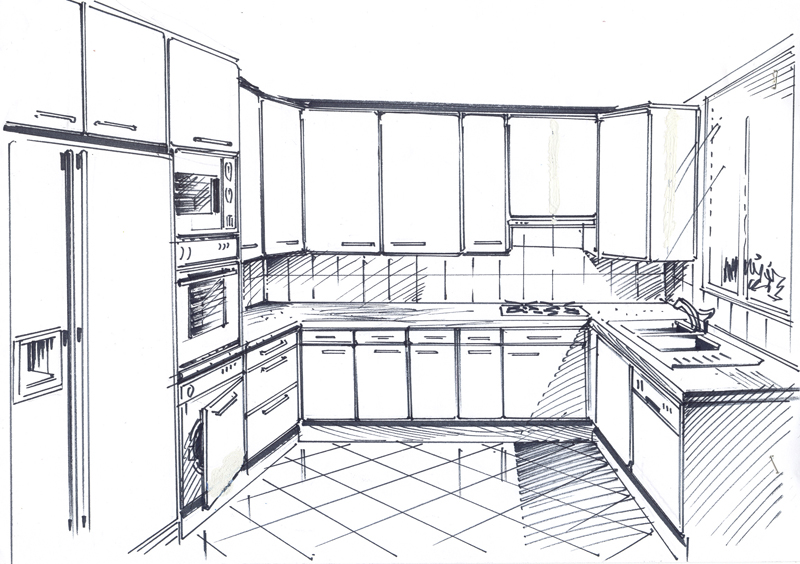 Comment dessiner un meuble cheap with comment dessiner un for Ikea dessin cuisine